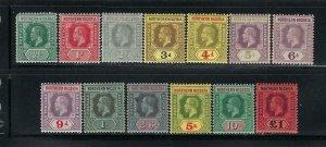 NORTHERN NIGERIA SCOTT #40-52 1912 GEORGE V SET  WMK 3- MINT LIGHT HINGED/HINGED