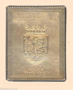 BERNERA COATS OF ARMS KINGS & QUEENS OF ENGLAND EDWARD THE 1st  22Kt GOLD