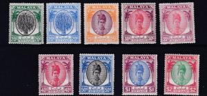 KEDAH  1950           S G  84 - 89      VARIOUS VALUES TO $2   MH  & MNH CAT £68