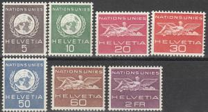 Switzerland #7o21-2, 7o24-5, 7o27-9 MNH  CV $4.50 (SU3220L)