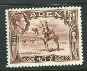 ADEN; 1938 early GVI issue fine Mint hinged Shade of 3/4a. value
