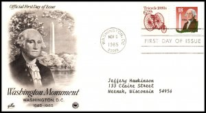 US 2149 Washington Monument PCS Artcraft Variety Typed FDC