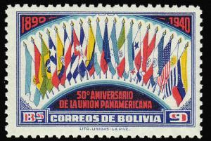 Bolivia Scott 269 Unused hinged.