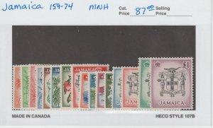 Jamaica 159-74 VF MNH