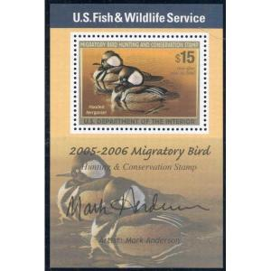 RW72B 2005 Federal Duck (Mark Anderson) Artist Signed Mini Sheet-WANTED TO BUY