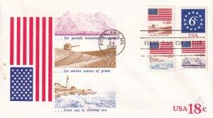 1981, 18c Flag, Andrews Cachet, FDC (E11859)