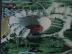 UM-AL QIWAIN STAMP-1972- OLYMPIC GAME MUNICH'72 - AIRMAIL- 3-D STAMP MNH #11