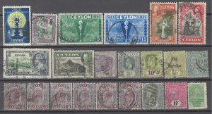 COLLECTION LOT # 3634 CEYLON 22 STAMPS 1872+ CLEARANCE CV+$20