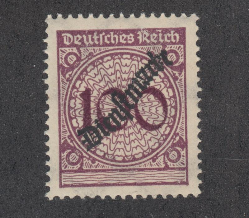 Germany Sc O52 MNH. 1923 100pf brown violet Official, fresh, VF