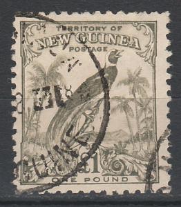 NEW GUINEA 1932 UNDATED BIRD 1 POUND USED TOP VALUE