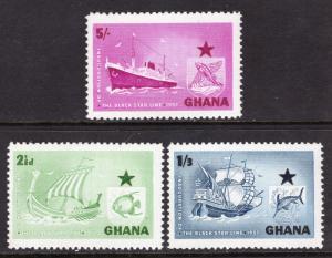 Ghana 14-16 Ships MNH VF
