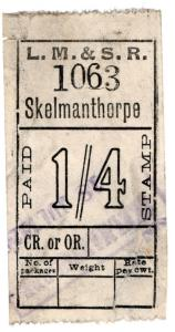 (I.B) London Midland & Scottish Railway : Parcel 1/4d (Skelmanthorpe)