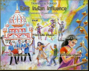 Trinidad & Tobago Cultures Stamps 2020 MNH East Indian Influence 175 Yrs 3v M/S