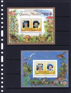 British Virgin Islands Queen Mother/Concorde/Birds 2SS