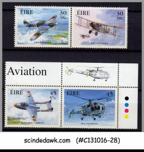 IRELAND - 2000 MILITARY AVIATION - 4V - MINT NH