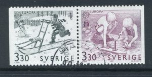 Sweden 1737 - 8 Used Attached Pair (7