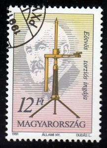 Hungary #3277 Lorand Eotvos issued 1991.
