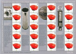 2008 WE WILL REMEMBER THEM SMILER SHEET  -  LS55 - UNMOUNTED MINT