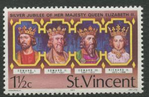 St Vincent - Scott 485 - Kings and Queens -1977 - MNH - Single 1.1/2c Stamp