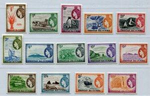QEII TRISTAN DA CUNHA 1954 SET  SG & SCOTT 14-27 PERFECT MH