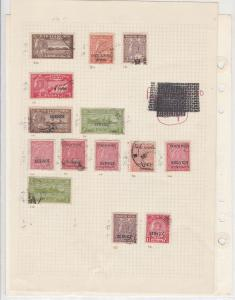 India States Travancore Stamps on Page - Collectable Ref 33185