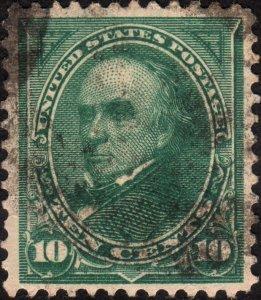 1895, US 10c, Daniel Webster, Used, Sc 273