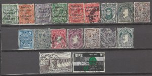 COLLECTION LOT # 3162 IRELAND 18 STAMPS CLEARANCE UNCHECKED1922+ CV+$40