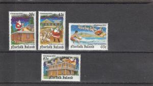 Norfolk Island  Scott#  491-4  MNH  (1990 Christmas)