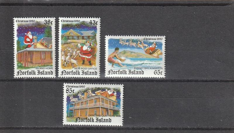 Norfolk Island  Scott#  491-4  MNH  (1990 Christmas)