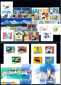 Switzerland 2006 Complete Year Set Incl Souvenir Sheets MNH