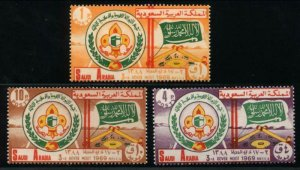 SAUDI ARABIA SC#607-609 The 3rd Middle East Rover Moot (1969) MNH