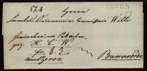 $German Stampless Cover, Zeven (31mm)