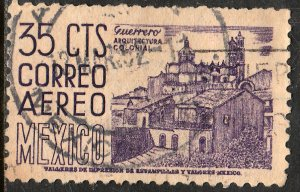 MEXICO C191a, 35c 1950 Definitive wmk 279 Retouch Used.F-VF. (639)