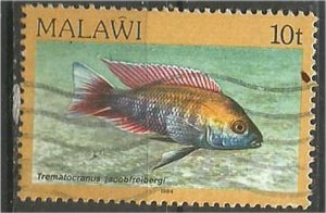 MALAWI 1984 used 10t  Aquarium  Scott 432