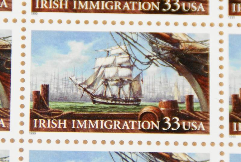1999 sheet Irish Immigration Sc# 3286