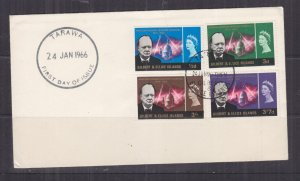 GILBERT & ELLICE ISLANDS, 1966 Churchill set of 4, unaddressed fdc.