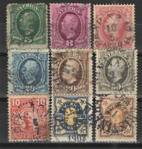 Sweden - Collection early issues  Used G/VG