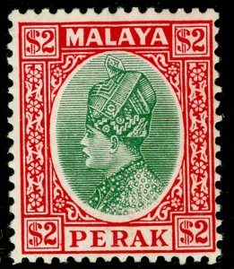MALAYSIA - Perak SG101, $2 green & scarlet, NH MINT. Cat £42.