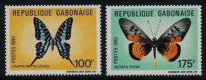 Gabon 272-5 MNH Butterflies