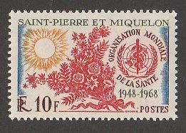 ST PIERRE & MIQUELON #377 MINT NEVER HINGED COMPLETE
