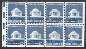 Doyle's_Stamps: 1973 Booklet of Pane Jefferson Memorials, Scott #1510C**