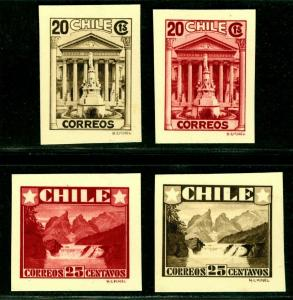 CHILE 1935 Lake District & House of Dep. - KOSEL UNADOPTED ESSAYS - DIE PROOFS