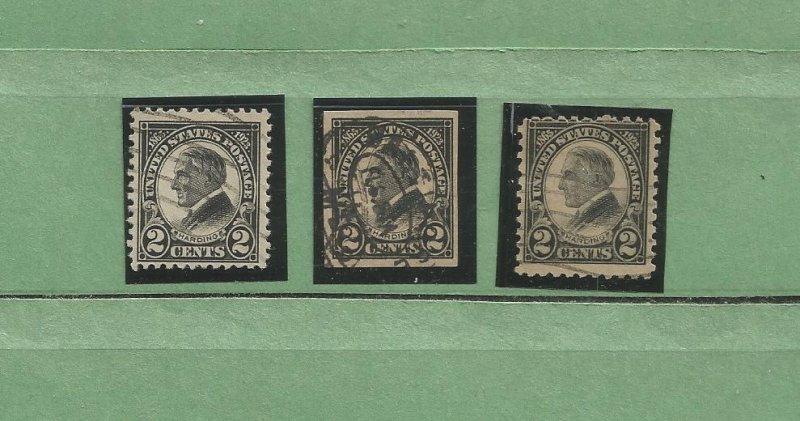 USA Stamps #610,611,612