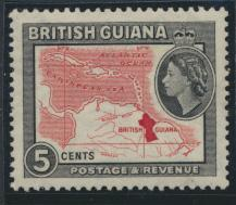 British Guiana SG 335 Mint Light Hinge  (Sc# 257 see details)