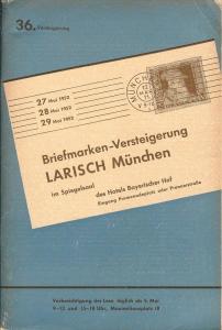 Larish: Sale # 36  -  36. Versteigerung, A. Larish-Munche...