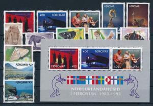 Faroe Islands 1993 Complete Year Set MNH