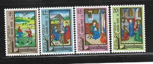 LUXEMBOURG,B367-B370, MINT HINGED, CHRISTMAS 1988