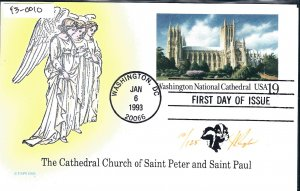 Rare Pugh Designed and Painted Saint Peter Cathedral FDC only 125 created...