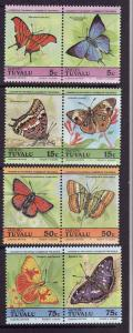 Tuvalu-Vaitupu-Scott#39-42-unused NH set-Insects-Butterflies-1985-