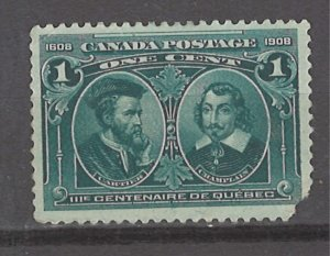 COLLECTION LOT # 3086 CANADA #97 UNUSED NO GUM FAULTY 1908 CV+$30